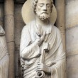Royalty-Free Stock Photo: Saint Peter, Notre Dame Cathedral, Paris