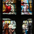 Stained glass window in Saint-Eustache church, Paris, France — Stock Photo