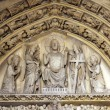 Stock Photo: Paris, Sainte Chapelle tympanum