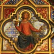Icon on wall of lower level of royal palatine chapel, Sainte-Chapelle, Paris, — Stok Fotoğraf #18075701