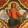 Icon on the wall of lower level of royal palatine chapel, Sainte-Chapelle, Paris, — Stock Photo