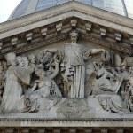 Paris - tympanon of Pantheon — Stock Photo #18077827