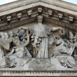 Paris - tympanon of Pantheon — Stock Photo