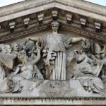 Paris - tympanon of Pantheon — Stock Photo #18077841
