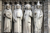 Saint John the Baptist, Saint Stephen, Saint Genevieve and Pope Saint Sylvester — Stock Photo