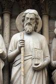 Saint Simon, Notre Dame Cathedral, Paris — Stock Photo