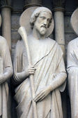 Saint james meno, notre dame cattedrale, parigi — Foto Stock