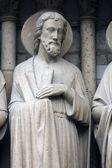 Saint andrew, catedral de notre dame, parís — Foto de Stock