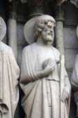 Saint jude, catedral de notre dame, parís — Foto de Stock