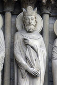 King David, Notre Dame Cathedral — Stock Photo