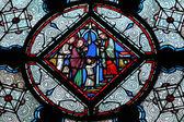 Vitral em la sainte-chapelle em paris — Fotografia Stock