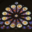 Stock Photo: Stained glass, Saint Etienne du Mont Church, Paris.