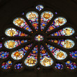 Stained glass, Saint Etienne du Mont Church, Paris. — Stock Photo