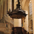 Pulpit, Saint Etienne du Mont Church, Paris. - Stok fotoğraf