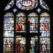 Stock Photo: Stained glass window in Saint-Eustache church, Paris, France