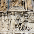 Notre Dame Cathedral, Paris Last Judgment Portal — Stock Photo