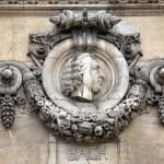 Bach, Architectural details of Opera National de Paris — Stock Photo
