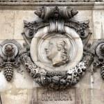 Cimarosa, Architectural details of Opera National de Paris — Stock Photo