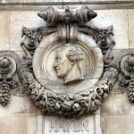 Haydn, Architectural details of Opera National de Paris — Stock Photo