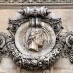 Percolese, Architectural details of Opera National de Paris — Stock Photo