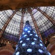 Royalty-Free Stock Photo: Christmas tree at Galeries Lafayette, Paris