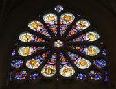 Vitrais, igreja de mont saint etienne du, paris. — Foto Stock