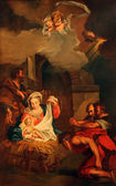 Nativity Scene, Adoration of the Shepherds — Stock Photo
