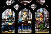 Joseph's Death. Stained glass — Stock fotografie