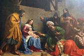 Nativity Scene, Adoration of the Magi — Stock Photo