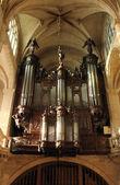 Varhany, saint etienne du mont církve, paříž. — Stock fotografie