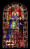 Saint louis con la corona de espinas — Foto de Stock
