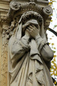 Sculptures from the Pere Lachaise Cemetery Paris — Stock Photo