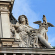 Statue of commerce on the BNP building in Paris — Stock Photo