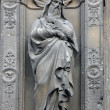 Statue at the south portal of the church of St. Eustache, Paris — Stock Photo