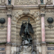 Fountain Saint-Michel — Stock Photo