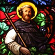 Apostle, stained glass — Stock Photo