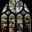 St. John the Baptist introduced by his mother, St. Elizabeth, the Infant Jesus and the Holy Kinship — Stock Photo