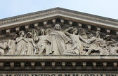 "Tympanum of the church ""La Madeleine"", Paris — Stock Photo"