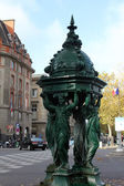 Wallace fountain, Paris — Stock Photo