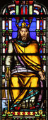 Stained glass window from Saint Germain-l'Auxerrois church, Paris — Stock Photo