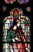 Angel, barevné sklo — Stock fotografie
