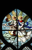 Angels, stained glass — Stock Photo