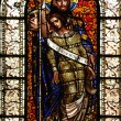 Savior, stained glass - 图库照片