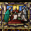 Stained glass, Saint Germain-l'Auxerrois church, Paris — Stock Photo