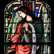 Foto Stock: Angel, stained glass