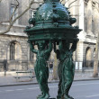 Wallace fountain, Paris - Stock Photo