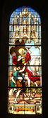 Saint Martin, stained glass — Stock Photo