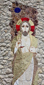 Jesus, the shrine of Our Lady of Lourdes in Vepric, Croatia — Stock Photo