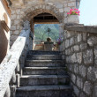 Staircaise, Our Lady of the Rock church in Perast, Montenegro - Stock Photo