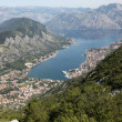 Bay of Kotor and Historic town of Kotor, Montenegro — Stockfoto